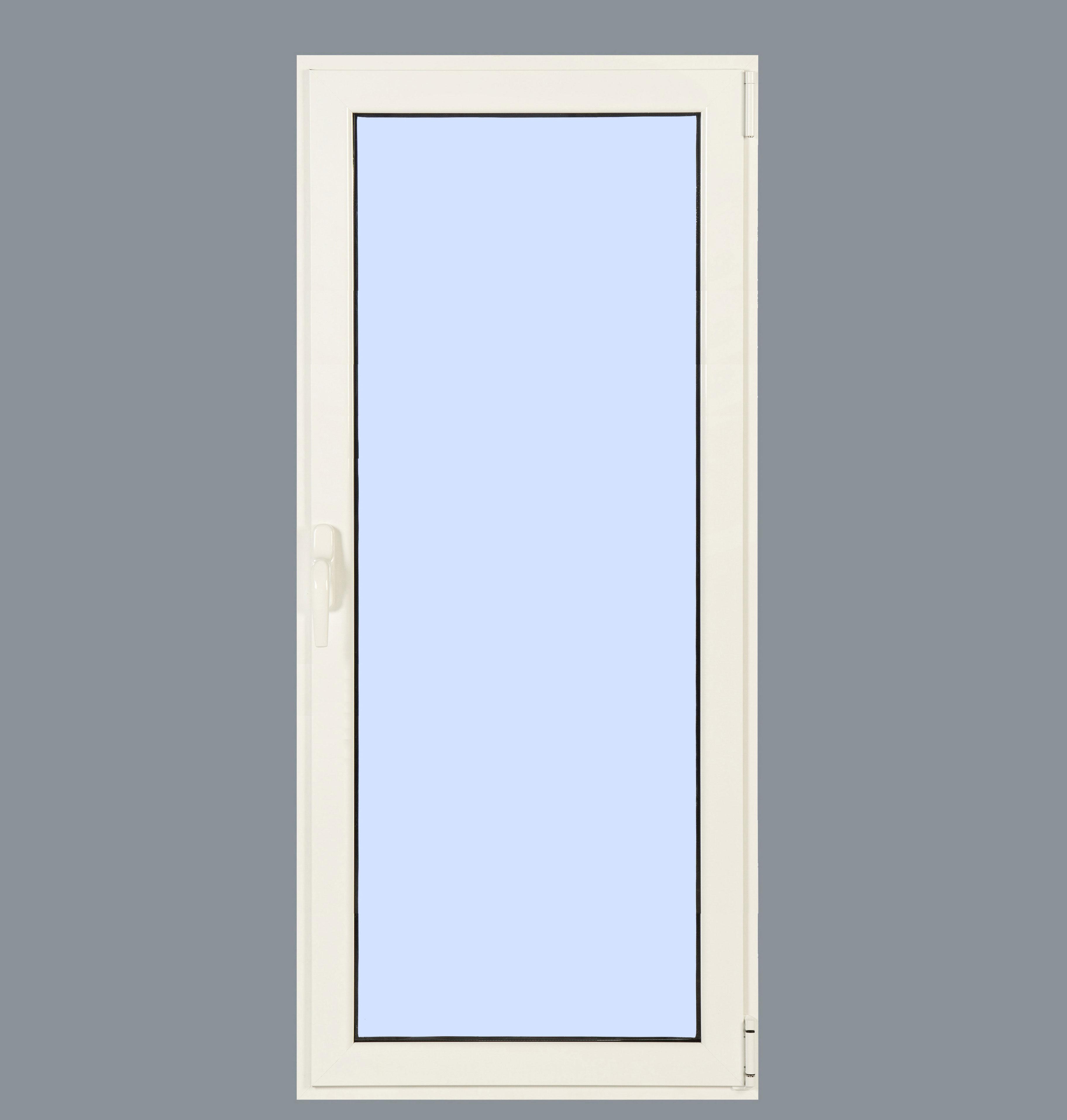 Puerta balconera aluminio practicable derecha 800x2000 1h - Puerta balconera aluminio ...
